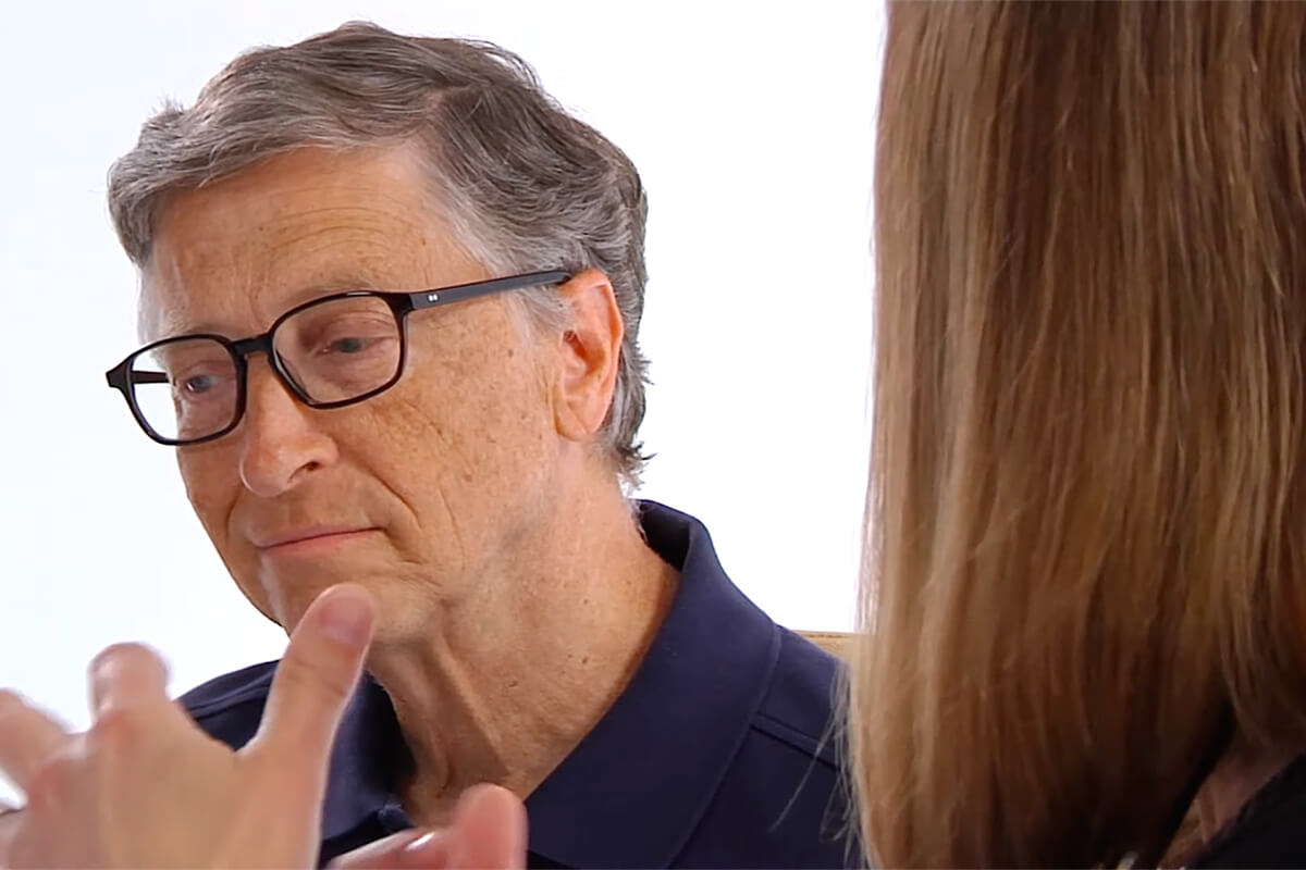 Bill Gates Meets with Katie Brown