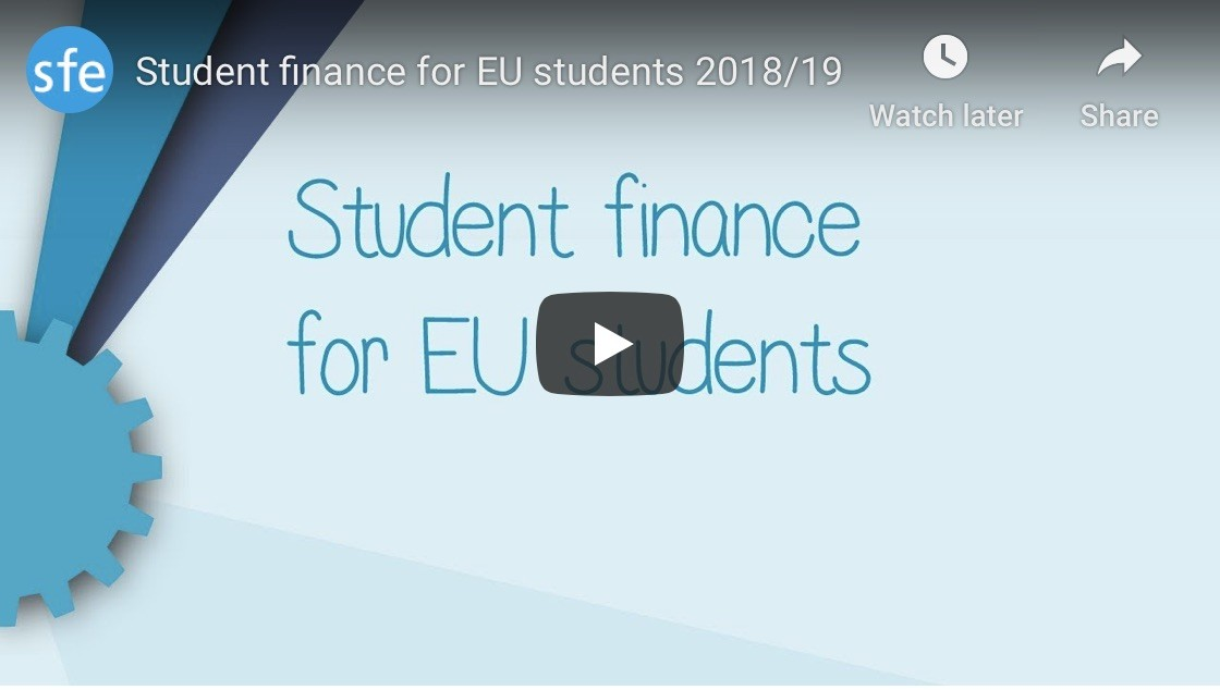 Student finance for EU students 2018-2019